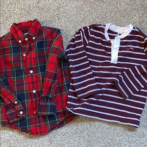 Janie and jack toddler boys shirts size 3T